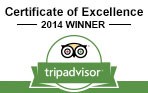 Trip Advisor - Certificate of Excellence